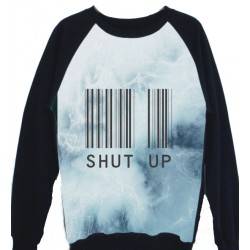 SUDADERA ESTAMPADA SHUT UP