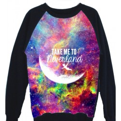 SUDADERA ESTAMPADA TAKE ME TO NEVER