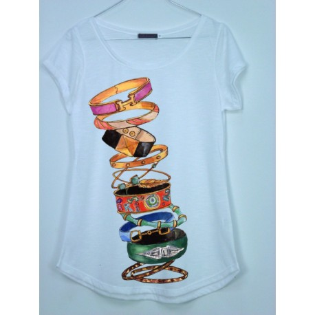 CAMISETA MEDIA MANGA PULSERAS