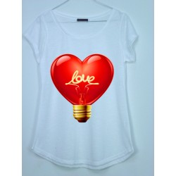 CAMISETA MEDIA MANGA BOMBILLA LOVE