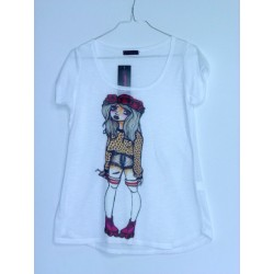CAMISETA MEDIA MANGA CHICA PATINES