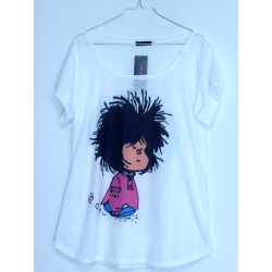 CAMISETA MEDIA MANGA MAFALDA RECIEN LEVANTADA
