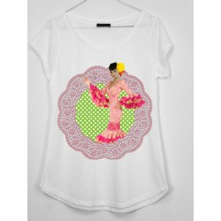 CAMISETA MEDIA MANGA AUDREY FLAMENCA