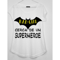 CAMISETA MEDIA MANGA BAD GIRL