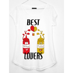 CAMISETA MEDIA MANGA BEST LOVERS