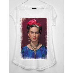 CAMISETA MEDIA MANGA CUADRO FRIDA