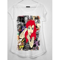 CAMISETA MEDIA MANGA SIRENA ROCK